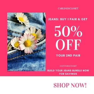 JEANS - Buy 1, GET 50% OFF 2ND PAIR
